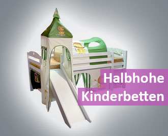 Halbhohes-Kinderbett